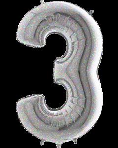 3 Holographic Folienzahlen 26in/66cm
