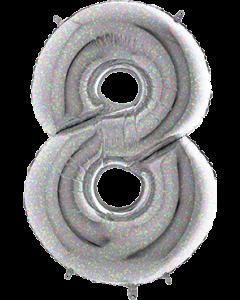 8 Holographic Folienzahlen 26in/66cm