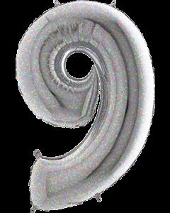 9 Holographic Folienzahlen 26in/66cm