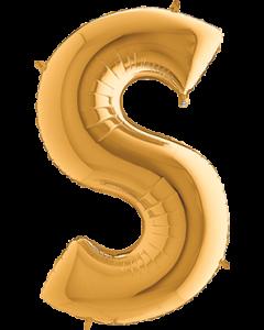 S Gold Folienbuchstabe 7in/18cm