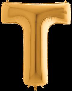 T Gold Folienbuchstabe 7in/18cm