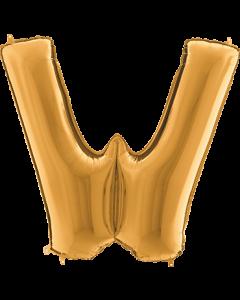 W Gold Folienbuchstabe 7in/18cm