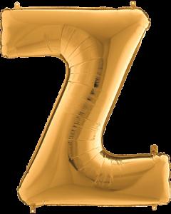 Z Gold Folienbuchstabe 7in/18cm