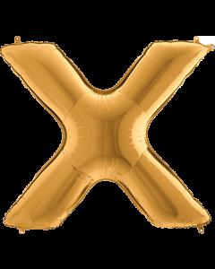 X Gold Folienbuchstabe 7in/18cm