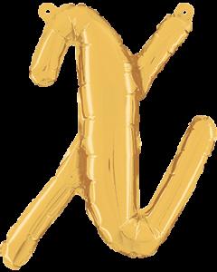 X Script Gold Folienbuchstabe 14in/36cm