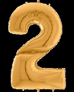 2 Gigaloon Gold Folienzahlen 64in/162cm