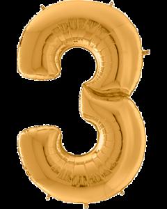 3 Gigaloon Gold Folienzahlen 64in/162cm