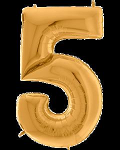 5 Gigaloon Gold Folienzahlen 64in/162cm