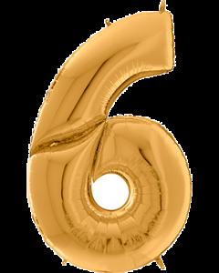6 Gigaloon Gold Folienzahlen 64in/162cm