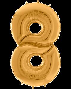 8 Gigaloon Gold Folienzahlen 64in/162cm