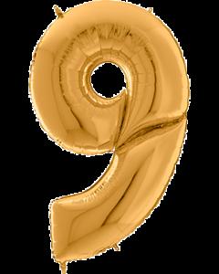 9 Gigaloon Gold Folienzahlen 64in/162cm