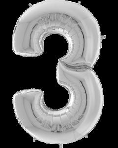 3 Gigaloon Silver Folienzahlen 64in/162cm