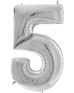 5 Gigaloon Silver Folienzahlen 64in/162cm