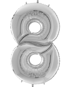 8 Gigaloon Silver Folienzahlen 64in/162cm