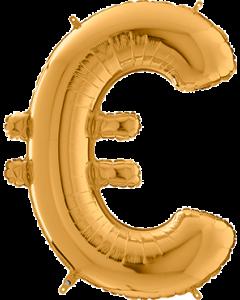 Gold € Folienbuchstabe 26in/66cm