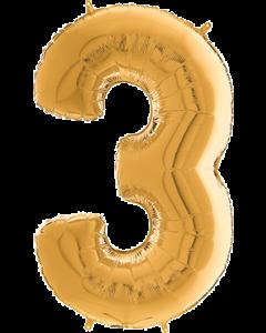 3 Megaloon Gold Folienzahlen 40in/100cm