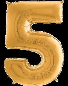 5 Megaloon Gold Folienzahlen 40in/100cm