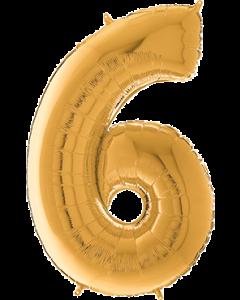 6 Megaloon Gold Folienzahlen 40in/100cm