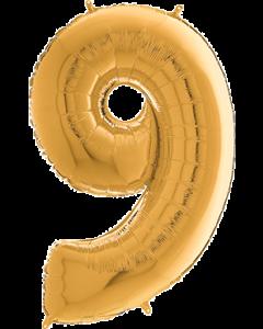 9 Megaloon Gold Folienzahlen 40in/100cm