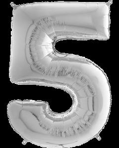 5 Megaloon Silver Folienzahlen 40in/100cm