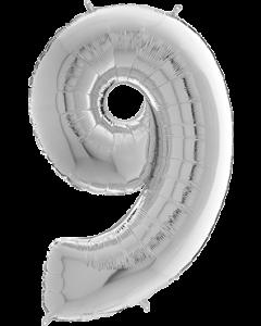 9 Megaloon Silver Folienzahlen 40in/100cm