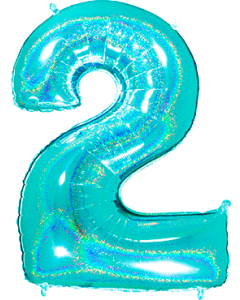 2 Megaloon Tiffany Glitter Holographische Folienzahlen 40in/100cm