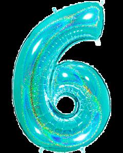 6 Megaloon Tiffany Glitter Holographische Folienzahlen 40in/100cm