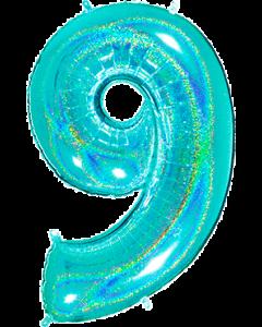 9 Megaloon Tiffany Glitter Holographische Folienzahlen 40in/100cm