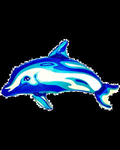 Delphin Dark Blue Holographisch Folienfigur 36in/90cm