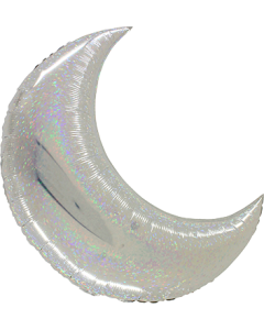 Big Moon Silver Holographisch Folienfigur 42in/105cm
