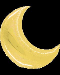 Big Moon Gold Holographisch Folienfigur 42in/105cm