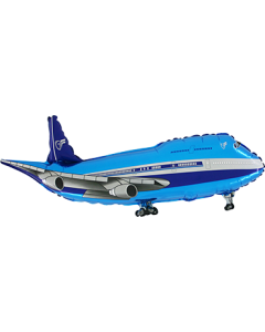 Airplane Blue Folienfigur 29in/74cm