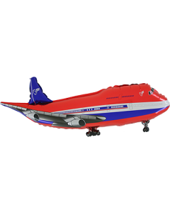 Airplane Red Folienfigur 29in/74cm