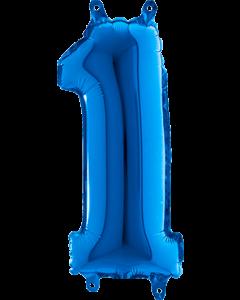 1 Blue Folienzahlen 40in/100cm