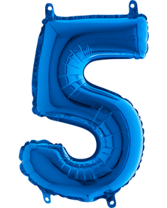 5 Blue Folienzahlen 40in/100cm