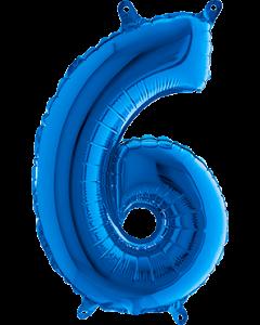 6 Blue Folienzahlen 40in/100cm