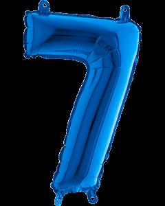 7 Blue Folienzahlen 40in/100cm