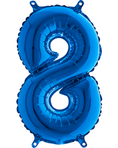 8 Blue Folienzahlen 40in/100cm