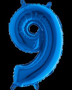 9 Blue Folienzahlen 40in/100cm