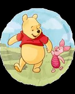 Pooh and Piglet Folienform Rund 18in/45cm