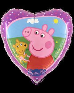 Peppa Pig Folienform Herz 18in/45cm