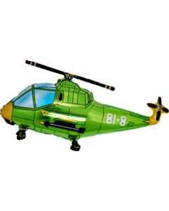 Helicopter Green Folienfiguren 30in/75cm