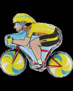 Cyclist Yellow Folienfiguren 31in/78cm