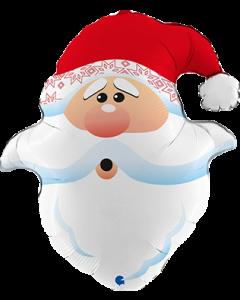Curious Santa Head Folienfiguren 26in/66cm