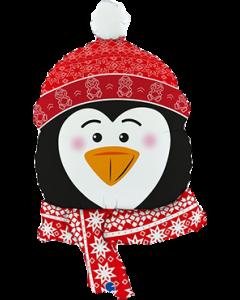 Sweet Penguin Head Folienfiguren 34in/90cm