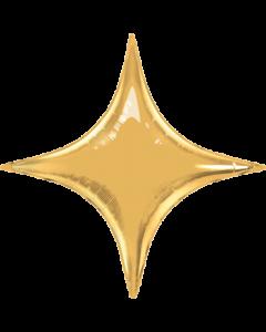 Metallic Gold Folienform Starpoint 40in/100cm