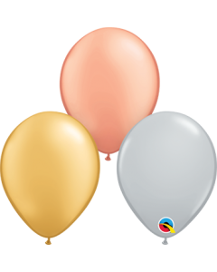 Tri-Color Metallic Sortiment Latexballon Rund 5in/12.5cm