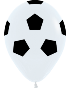 Soccer Ball Fashion White Latexballon Rund 11in/27.5cm