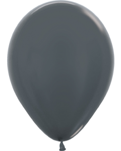 Metallic Graphite Latexballon Rund 11in/27.5cm