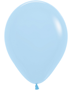 Pastel Matte Blue Latexballon Rund 11in/27.5cm